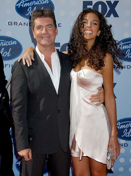 "Simon Cowell and Terri Seymour at the ""American Idol"" Season 6 Finale."