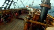 HMS Bounty Sinks in Sandy Wrath