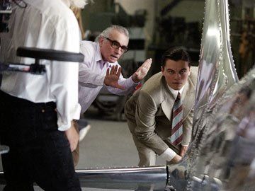 Martin Scorsese directs Leonardo DiCaprio in Miramax Films' The Aviator