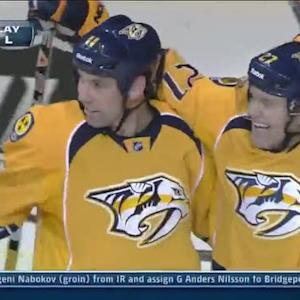 Predators score two goals in 28 seconds