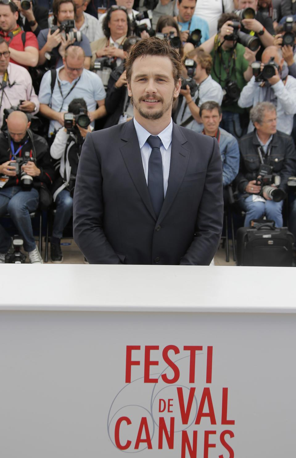 Director James Franco poses for photographers during a photo call for the film As I Lay Dying at the 66th international film festival, in Cannes, southern France, Monday, May 20, 2013. (AP Photo/Lionel Cironneau)