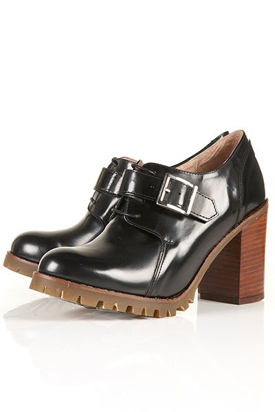 Jonty lace up buckle shoes, $136, topshop.com