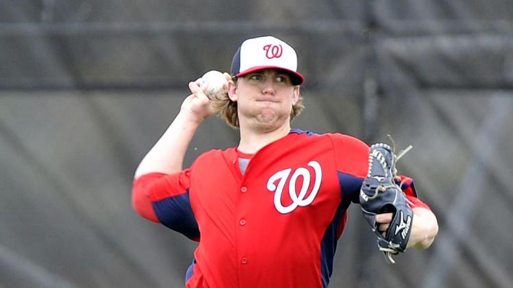 MLB: Washington Nationals-Pitchers and Catchers