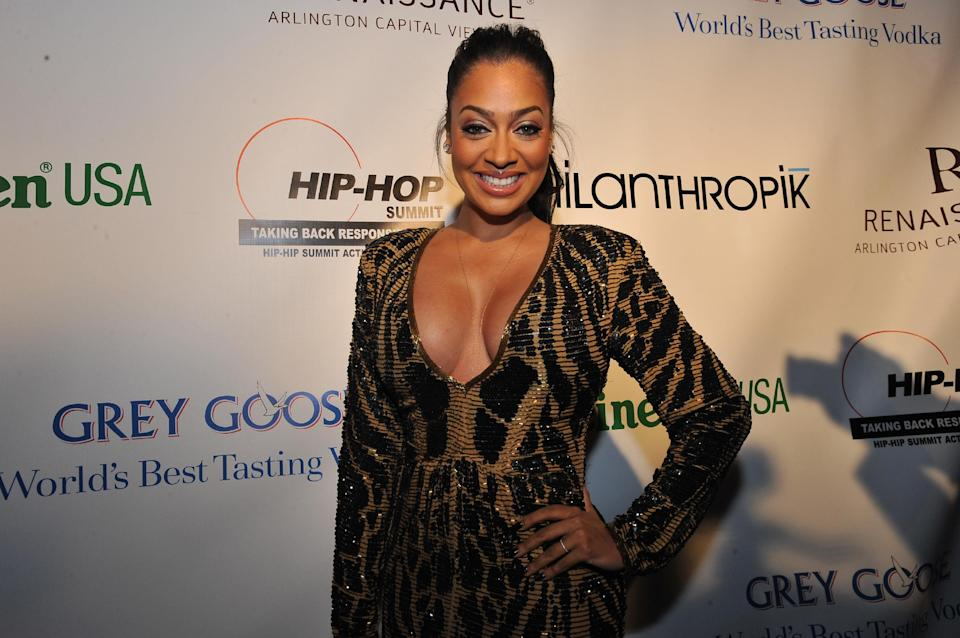La La Anthony is seen at the Hip-Hop Inaugural Ball on Sunday, Jan. 20 in Washington. (Photo by Larry French/Invision/AP)