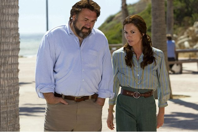 "James Gandolfini as Craig Gilbert and Diane Lane as Pat Loud in ""Cinema Verite."""