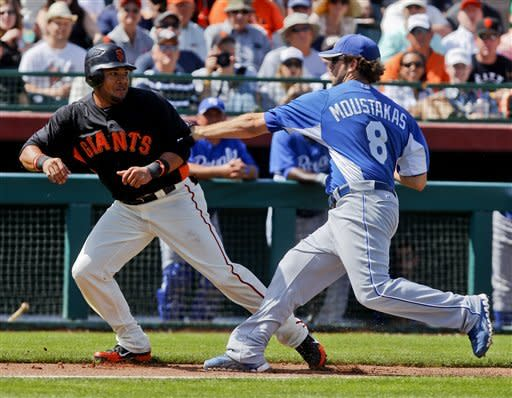Sandoval hits game-ending HR, Giants beat Royals