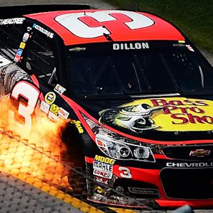 Dillon's car catches fire after engine failure
