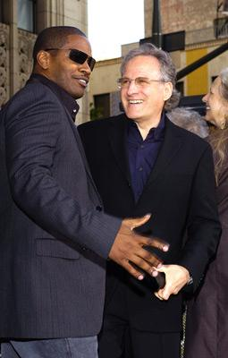 Jamie Foxx and director Michael Mann at the LA premiere of Dreamworks SKG's Collateral -2004 Photo: