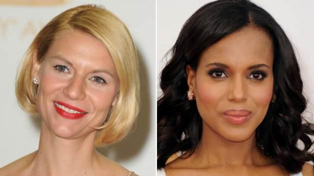 Claire Danes, Kerry Washington -- Getty Images