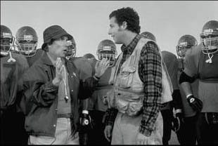 Henry Winkler and Adam Sandler in Touchstone's The Waterboy