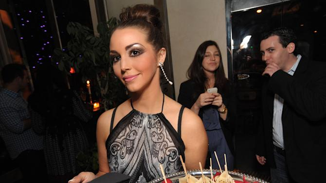 """Scheana Marie attends the premiere party for """"Vanderpump Rules"""" at SUR restaurant, on Monday, Dec. 10, 2012 in Los Angeles. The show premieres on January 7, 2013 on Bravo.  (Photo by John Shearer/Invision for Bravo/ AP Images)"""