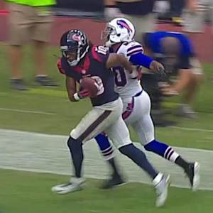 Houston Texans quarterback Ryan Fitzpatrick 35-yard touchdown pass to wide receiver DeAndre Hopkins