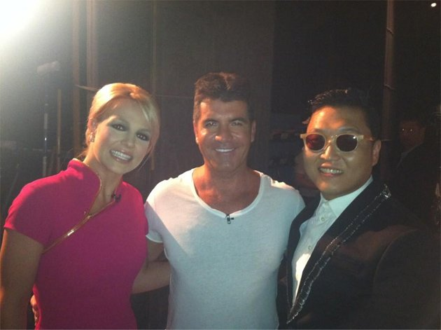 Celebrity photos: Britney Spears and Simon Cowell were firmly on the promotional trail this week ahead of the launch of X Factor USA. They appeared on TV shows together, with pictures of them backstag