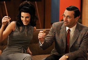 Jessica Paré and Jon Hamm, <i>Mad Men</i> | Photo Credits: Michael Yarish/AMC