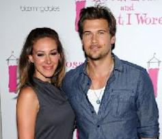 Haylie Duff and Nick Zano attend the 'Love, Loss, and What I Wore' new cast member celebration at 44 1/2 in New York City on July 1, 2010 -- Getty Images