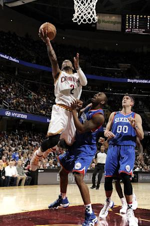 Irving lifts Cavs over 76ers 127-125 in 2OT