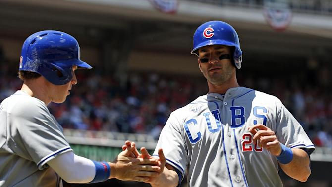 Ruggiano homers, Cubs cool off Nationals 7-2