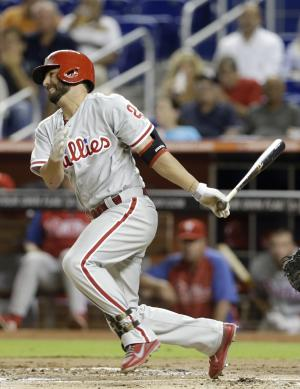 Phillies top Marlins 2-1, hand Miami 100th loss
