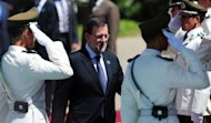 <p>Spanish Prime Minister Mariano Rajoy attends the Latin American and Caribbean States-European Union Summit in Santiago, on January 26, 2013. European and Latin American leaders pledged to shun protectionism and boost their strategic partnership to foster free trade.</p>