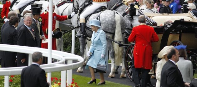 Gambling big bucks on the Queen's hat colour. Truly.