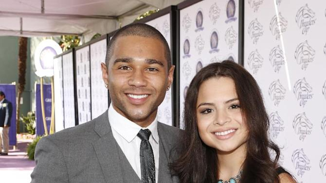 Corbin Bleu and Sasha Clements are seen on Day 2 of the Breeders' Cup World Championships on Saturday Nov. 3,  2012, in Arcadia, Calif.  (Photo by Todd Williamson/Invision for Breeders' Cup/AP Images)