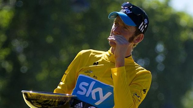 2012 Tour de France Bradley Wiggins Podium