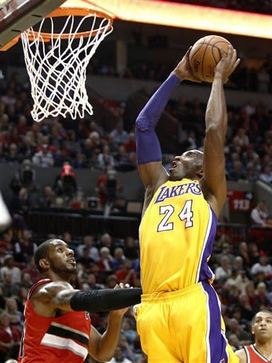 Lakers drop 2nd straight, fall to Blazers 116-106