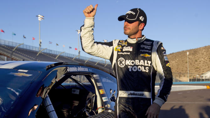 Johnson wins pole for Phoenix, Kenseth to start