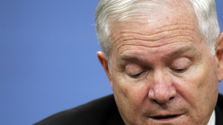 Secretary of Defense Robert Gates speaks during a media availability at the Pentagon Thursday, June 16, 2011 in Washington.(AP Photo/Alex Brandon)