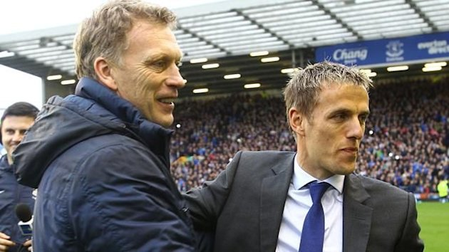 David Moyes and Phil Neville (PA Photos)