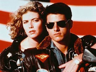 Putting sizzle in the early summer of 1986: Kelly McGillis and Tom Cruise in Top Gun.