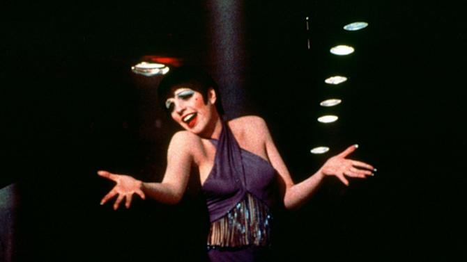 "This 1972 photo released by Warner Bros. Home Video shows Liza Minnelli as Sally Bowles in a scene from ""Cabaret.""  The landmark film ""Cabaret"", starring Liza Minnelli, Joel Grey and Michael York, has turned 41. All three actors will be attending an anniversary celebration screening planned Thursday, Jan. 31, 2013, at the Ziegfeld Theatre, where the movie first premiered in 1972. (AP Photo/Warner Bros. Home Video)"