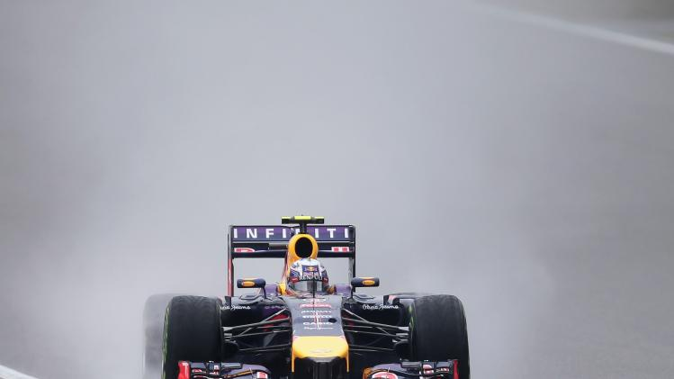 Red Bull Racing Formula One driver Ricciardo of Australia drives during the third practice session of the Chinese F1 Grand Prix at the Shanghai International circuit