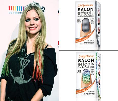 Avril Lavigne Nails Partnership with Sally Hansen