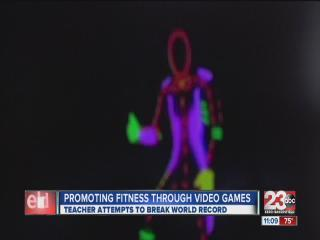 Teacher Promotes Fitness Through Video Game Challenge