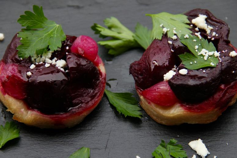 This French-Inspired Tart Is Dropping Some Dope Beets