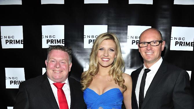 "This publicity image released by CNBC shows, from left,  Andy Smith, Catherine Knebel, and Curtis Dowling from ""Treasure Detectives,"" a reality series premiering Tuesday, March 5 at 10 p.m. EST on CNBC. (AP Photo/CNBC, Charles Sykes)"