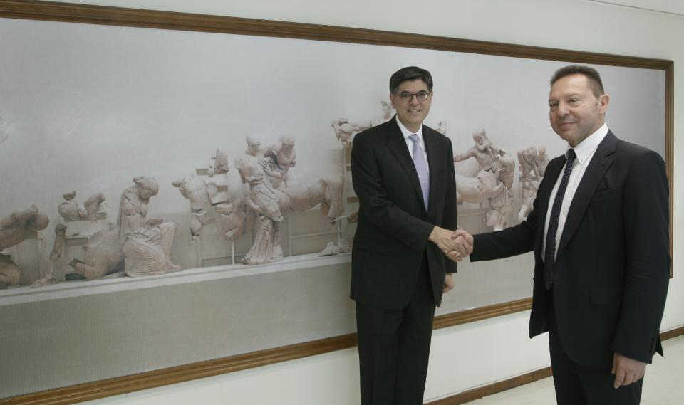 US Treasury Secretary Lew in Greece for talks