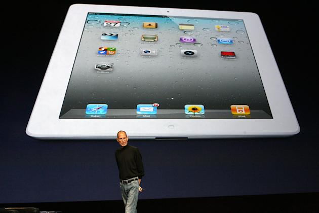 Steve Jobs, Apple's chief executive, speaks at an event introducing the iPad 2 in San Francisco.