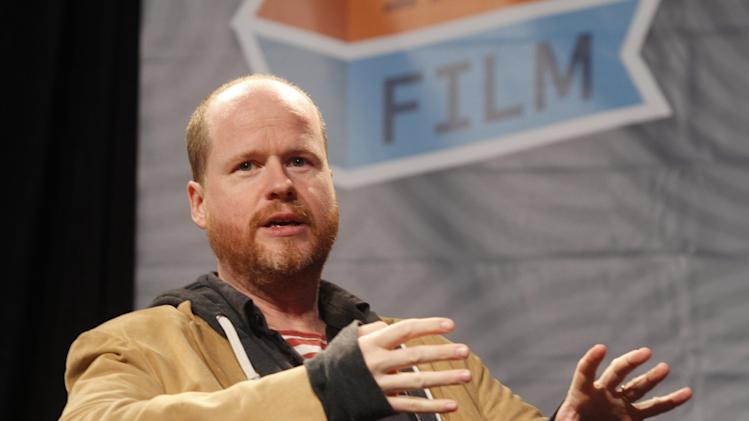 'The Cabin In The Woods' writer Joss Whedon gives a keynote speech at the SXSW Film Festival and Conference in Austin, Texas on Saturday, March 10, 2012.(AP Photo/Jack Plunkett