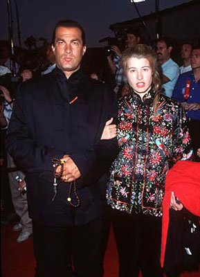 Steven Seagal and gal at the Westwood premiere of Twister