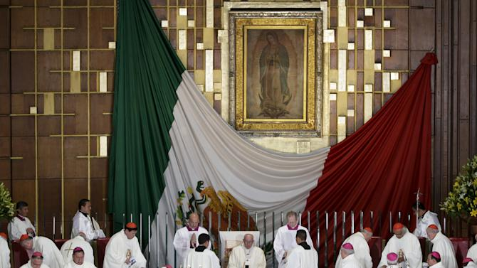 Pope Francis celebrates mass at Guadalupe's basilica in Mexico City