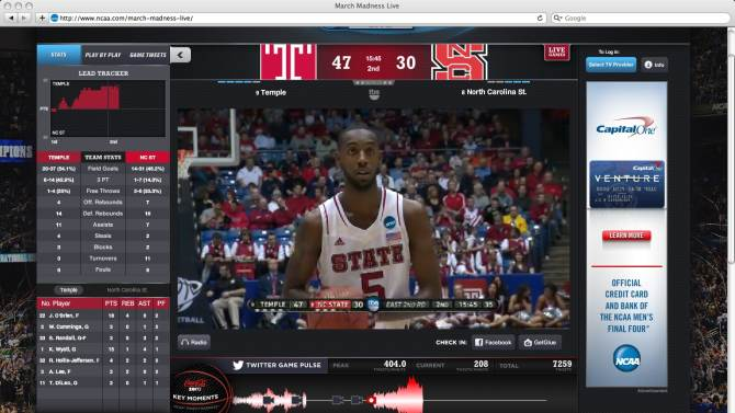 Review: March Madness online not for cord-cutters