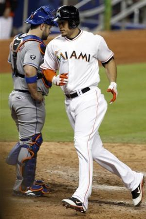 Stanton homers, Brantly puts Marlins up in 3-2 win