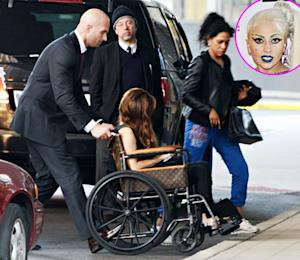 Lady Gaga Resurfaces in Louis Vuitton Wheelchair for Birthday Dinner With Boyfriend Taylor Kinney