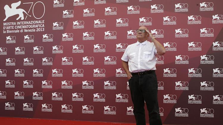 Director Paul Schrader poses for photographers at the photo call for the film The Canyons at the 70th edition of the Venice Film Festival held from Aug. 28 through Sept. 7, in Venice, Italy, Friday, Aug. 30, 2013. (AP Photo/David Azia)