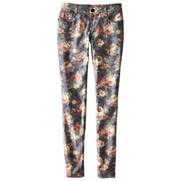 Xhilaration Juniors Skinny Floral Denim, $22.99 at Target.com