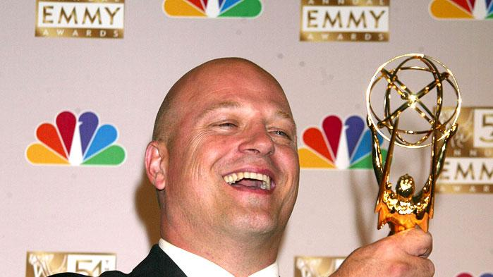"Michael Chiklis, winner of Best Lead Actor In A Drama Series for ""The Shield"" at the 54th Annual Emmy Awards."