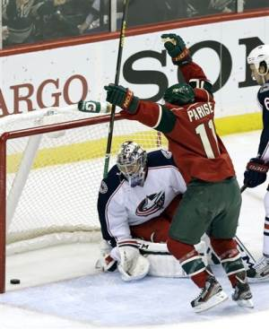 Bouchard's goal lifts Wild over Blue Jackets 3-2