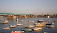 Boats from the Blue Nile Sailing Club float on the river in Khartoum on March 10, 2007. Both Sudan and Egypt, arid nations that rely heavily on the Nile for water including for agriculture, are extremely sensitive about projects that could alter the flow of the Blue Nile.